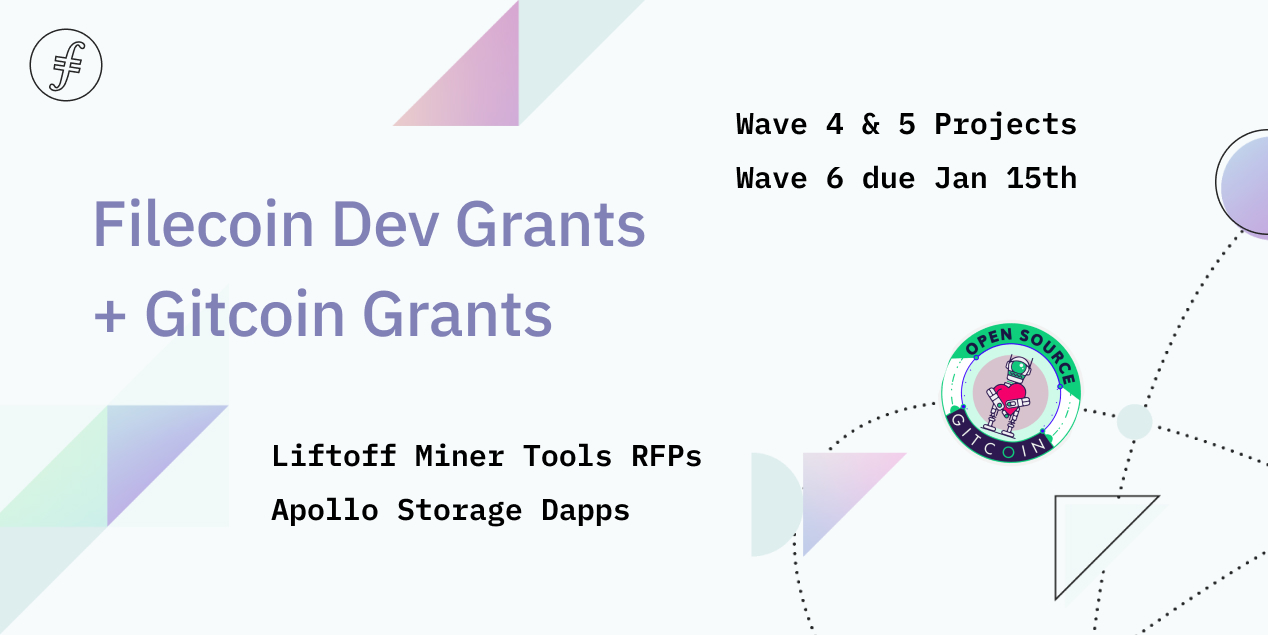Filecoin Dev Grants Waves 4-5 and Gitcoin Grants