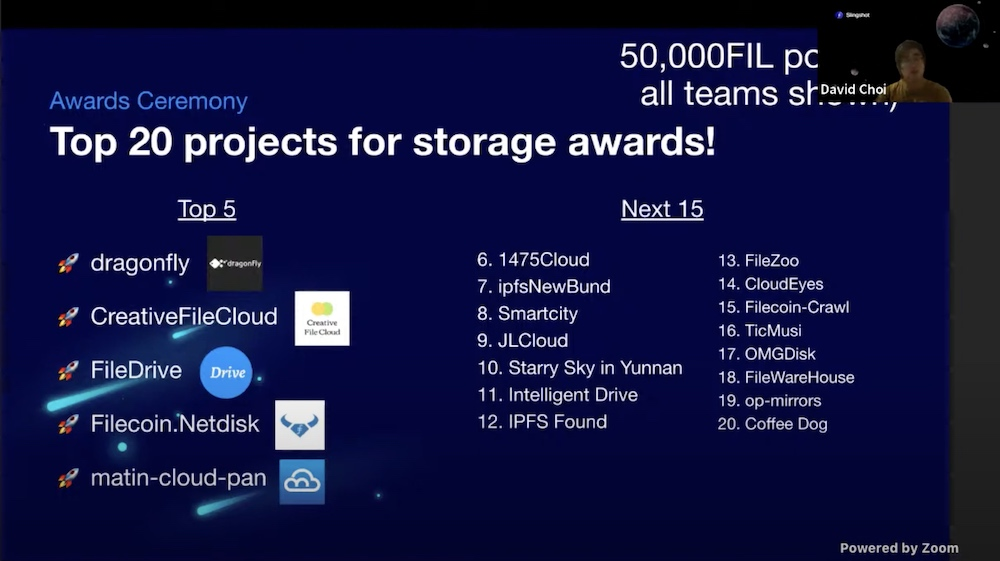 Top projects in Storage competition announced