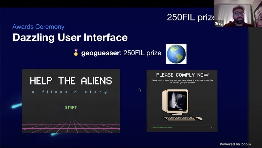 Dazzling User Interface award presented